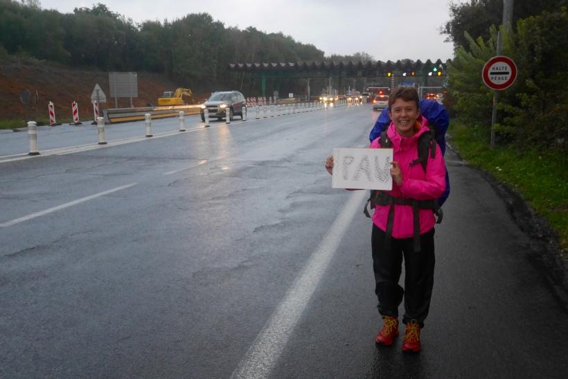 Sarah Hunt, hitchhiking Europe, France