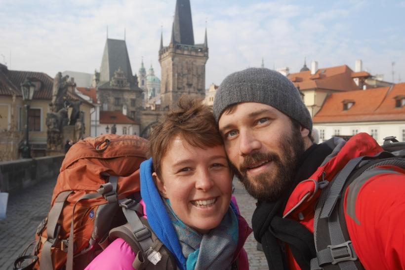 Matt and I arrive in Prague, Czech Republic